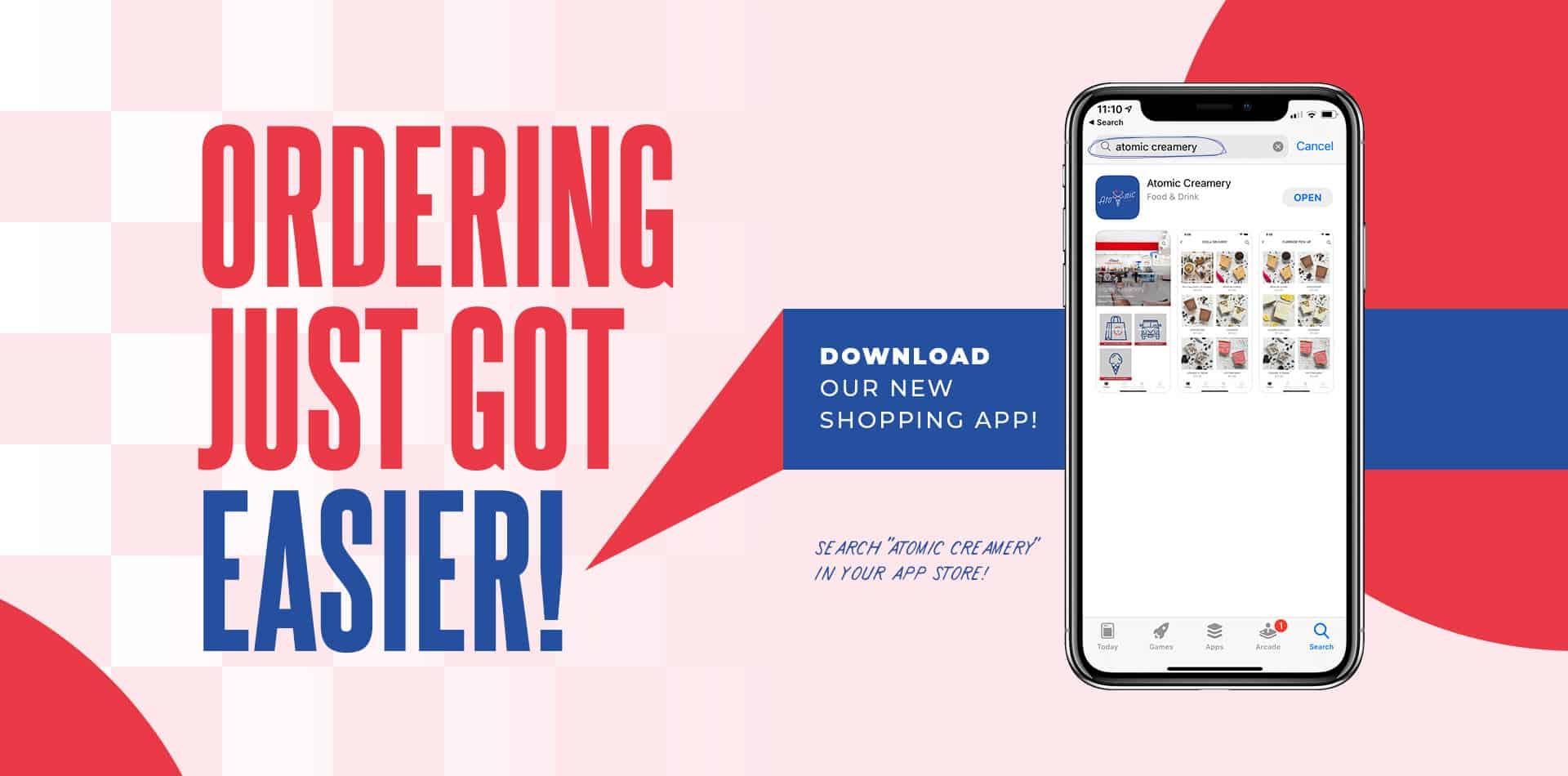 Atomic Creamery Mobile Shopping App